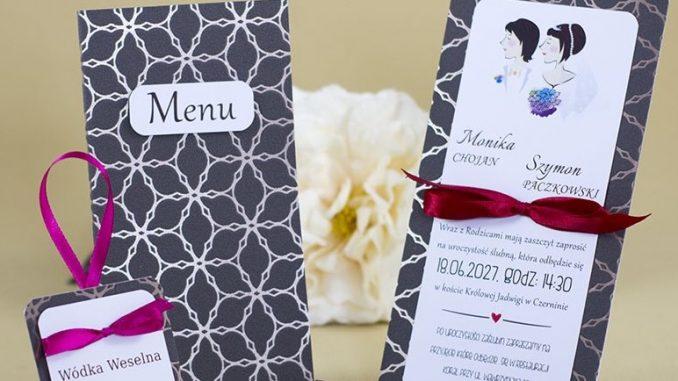 Białe, różowe, wiśnie a może truskawki – wybór zaproszeń ślubnych