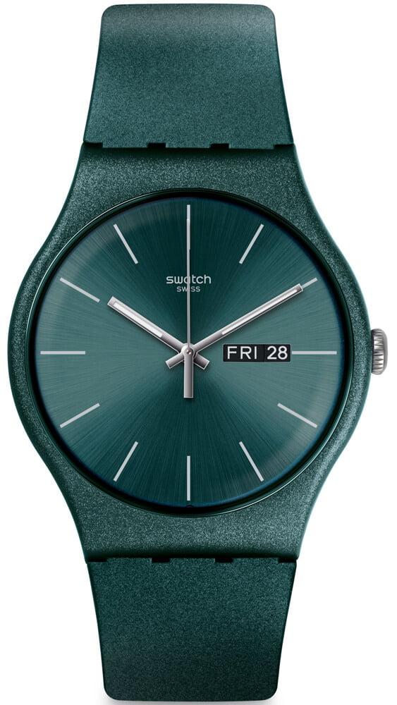 Zegarek Swatch z brokatowym połyskiem